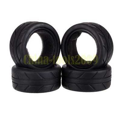 4PCS RC 1:10 Scale Car On Road 27MM High Grip Rubber Tyre,Tires Fit HSP HPI 6082