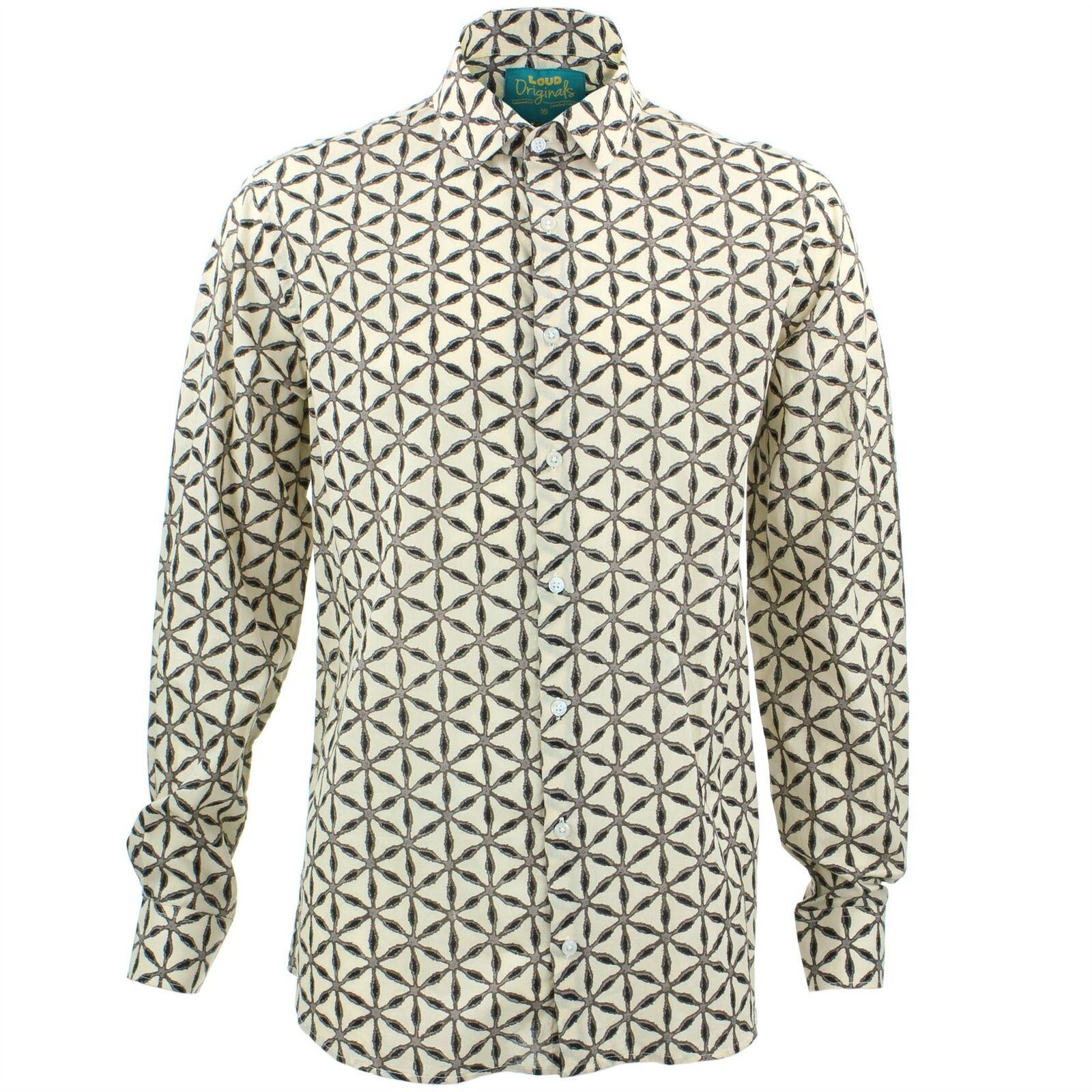 Camicia da uomo Loud ORIGINALS fatto su misura GEODESIC GIALLO Rétro