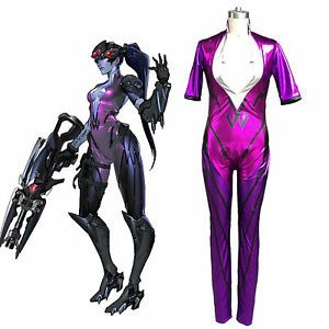 Adult Women Overwatch Black Widowmaker Cosplay Costume Comic Con ...