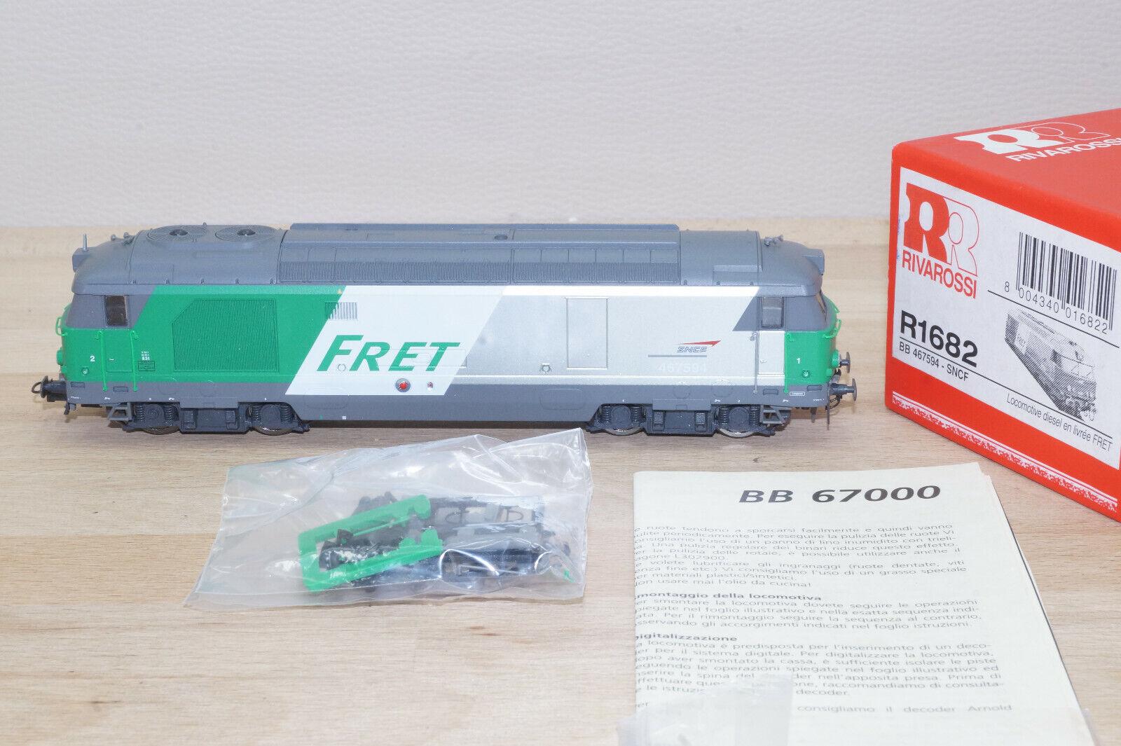 Rivarossi R1682 Diesellok der SNCF FRET BB 67000 N° 467594 neuwertig OVP Selten