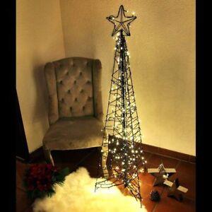 weihnachtsbaum modern 150 cm als pyramide metall mit stern. Black Bedroom Furniture Sets. Home Design Ideas