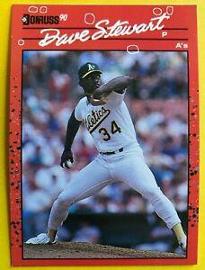 1990 NO Dot INC Period DAVE STEWART Donruss 2 ERRORS MINT Baseball Card 150 RARE