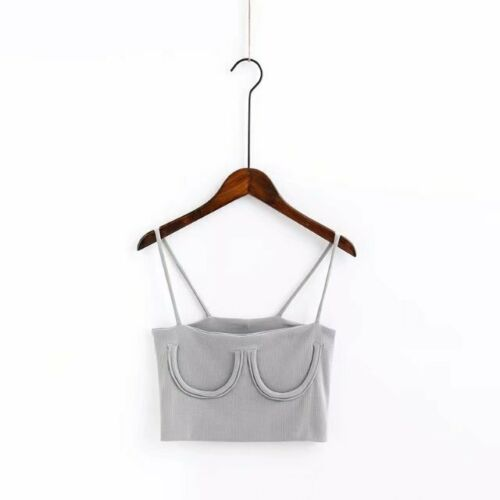 BLACK WHITE PINK GREY GREEN RED SEE DESCRIPTION#HOT TUBE CAMI CROP TOP 6 COLORS