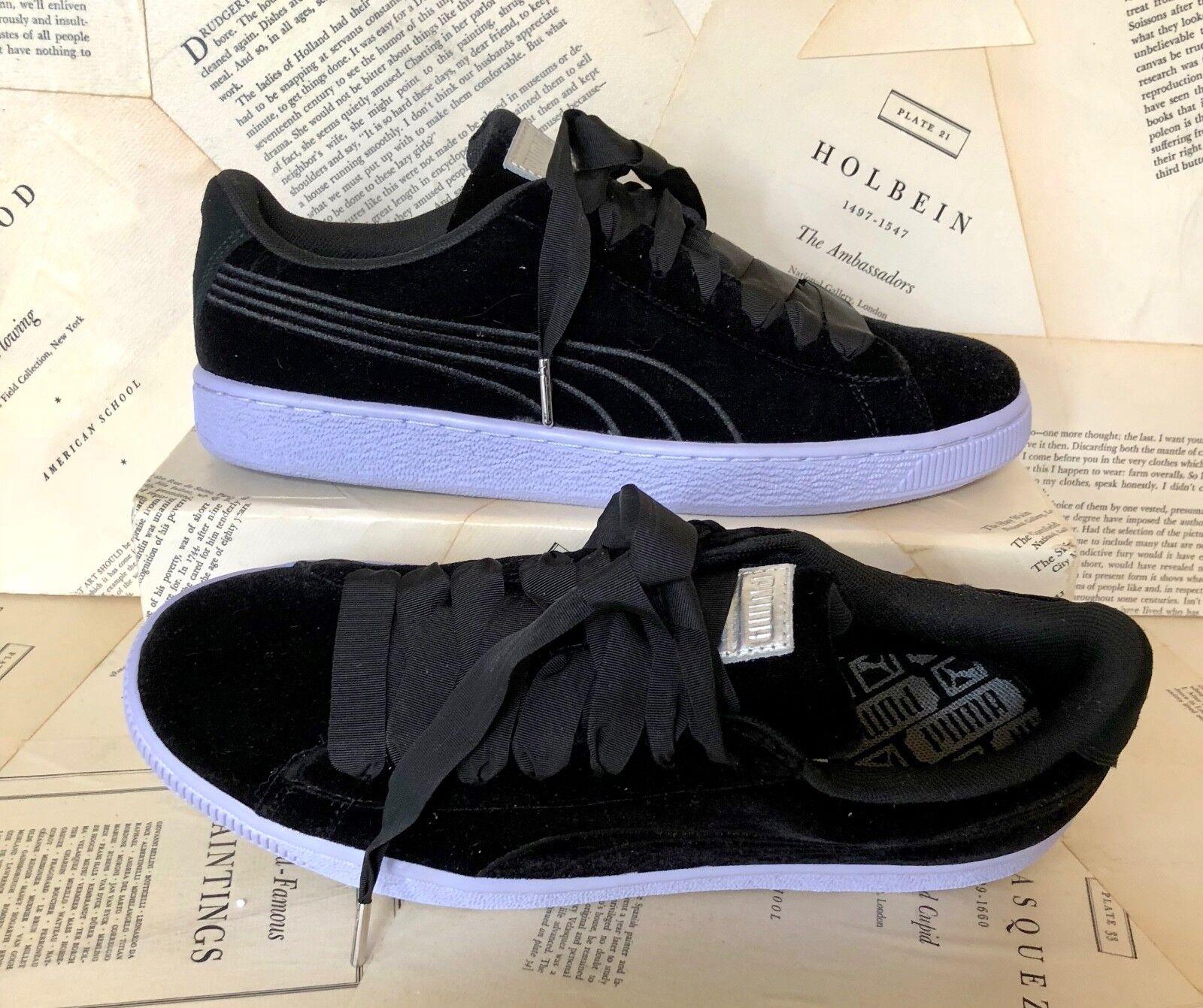 NEU Urban Outfitters Puma schwarz Velvet Ribbon Lace Sneakers 41/ 10