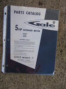 Hp Parts Store >> Details About 1961 Gale 5 Hp Outboard Motor 5d18b 5dl18b Parts Catalog More In Our Store U