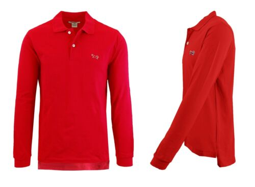 Mens Long Sleeve Long-Tail Polo Shirt Modern Fit Casual 100/% Cotton Button NWT