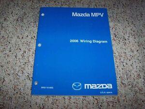 2006 Mazda Mpv Factory Original Electrical Wiring Diagram Manual Book Ebay