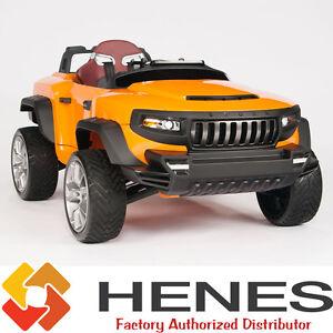 image is loading kids ride on truck car 24v henes broon