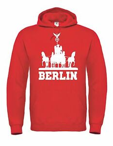 Kapuzensweat Hoodie Ultras Berlin Quadriga Trikot Kapuzenpullover für Union Fans