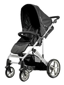 BRITAX Vigour Black Standard Single Seat Stroller rear wheel only.