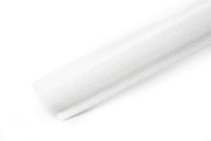 Blanco 12mm de ancho. Algodón cubierto de poliéster deshuesado