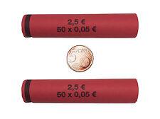 96 münzhülsen prefabbricati e arrotolato per 5 cent münzrollen carta
