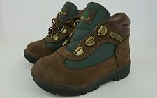 "Timberland Toddler Baby Boys Size 9 Brown Green ""Beef and Broccoli"" Boots 16837M"