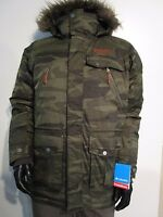 Mens Columbia Barlow Pass 550-turbodown Down Hooded Jacket Winter Camo Parka
