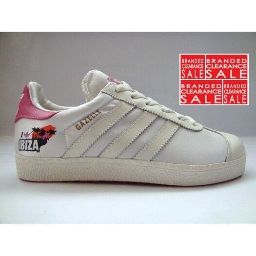 muchos estilos vista previa de zapatos deportivos Women adidas Gazelle 2 IBIZA Retro RARE Ivory White Trainer Size 6 ...