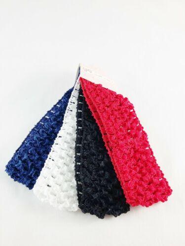 Spec École Couleurs 4PC Crochet kylieband Hairband 4.5 cm Enfants Bébé VA153-1