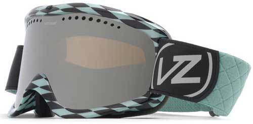 Von Zipper Sizzle Snow Goggles - Diamonds R 4Ever Aqua   Smoke Grey Chrome - New