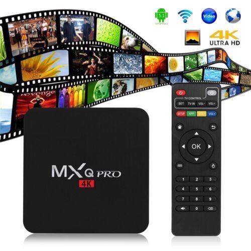 Original MXQ Pro 4K Ultra HD 3D 64Bit Android 7.1 Quad Core Smart TV Box HD-MI