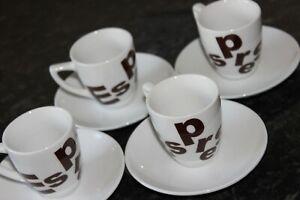 Dine Espresso Cups & Saucers Set of 4