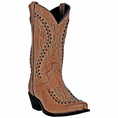 Laredo Men's Laramie Western Cowboy Leather Boots Tan 68432