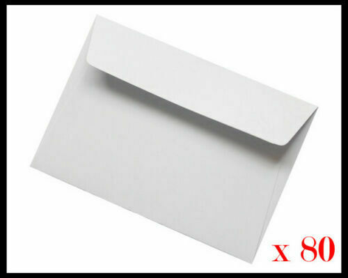 Pain White Packing Envelopes C6 Size Peel N Seal 114 x 162mm Party Invitation AH