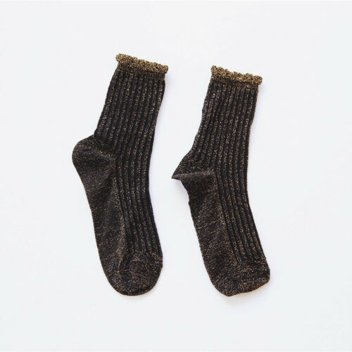 New Luxury Shiny Gold And Silver Silk Socks Harajuku Creative Velvet Socks Women