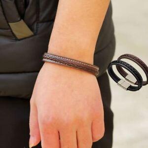 Stahl-Schliesse-Magnetisches-Woelbungs-Armband-Armband-Schmuck-Schweissband