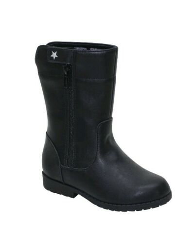 Wonder Nation Toddler Girls Black Riding Cowboy Casual Boots Shoes 7-11