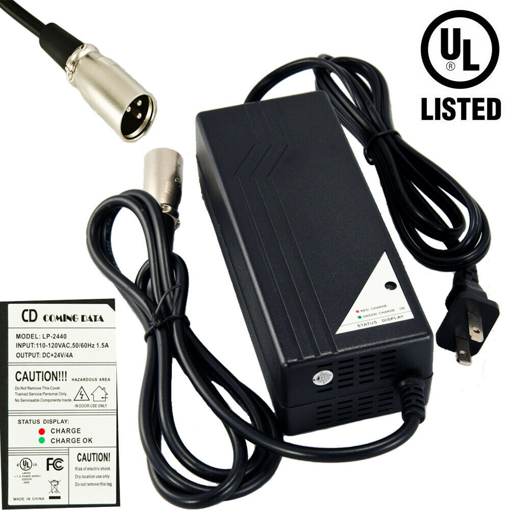 96W 24V 4A Battery Charger For PRIDE JET-3 JET3 Ultra power chair US Seller