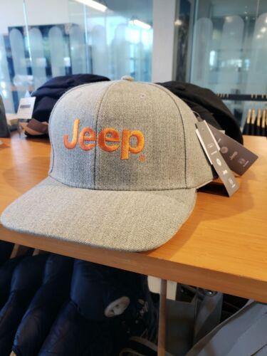 Jeep Structured Heather Hat With Orange Logo