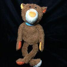 "Sigikid Germany Brown Orange Nose Teddy Bear Long Legs Plush Soft Toy 21"""