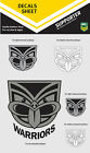 NRL NZ Warriors iTag UV Sticker Sheet