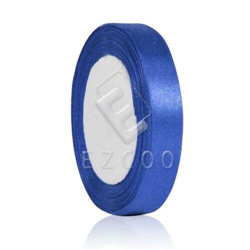 """25 Yard 1//4/""""6mm Satin Ribbon Craft Bow Wedding Supply Electric Blue HCRN0002-23"""
