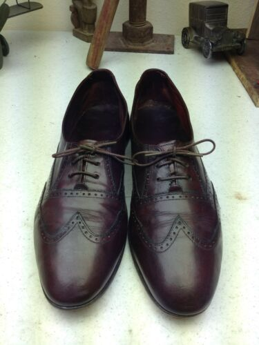 avec bordeaux Chaussure bordeaux chaussures vintage Saturday cuir Oxford 10m cuir en à lacets en tsQxBCrdh
