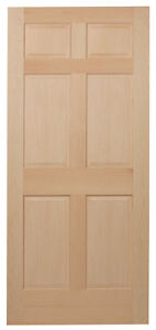 Image Is Loading 6 Panel Clear Maple Traditional Raised Panel Solid