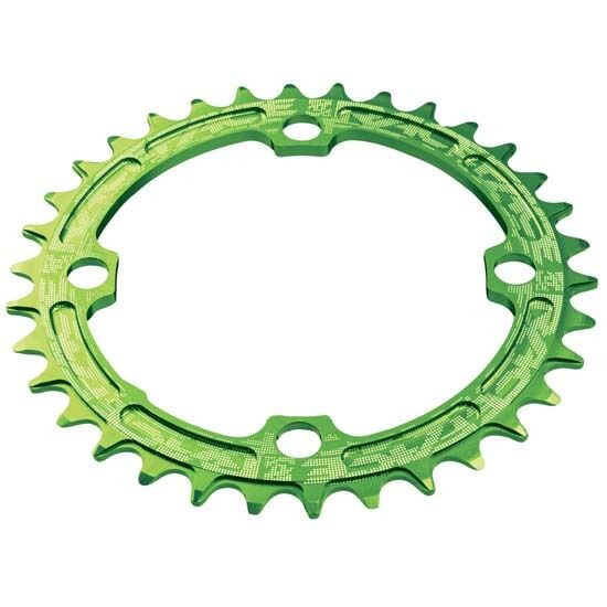 RaceFace 32T Narrow Wide Single Speed Chainring 104BCD Race Face 32 Teeth Grün