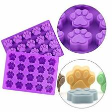 3 Pieces Silicone Molds Puppy Dog Paw /& Bone Shaped 2 in 1 Oven Microwave Freezer Dishwasher Safe-Pink 8-Cavity Purple FG-2/_in/_1 paw-bone-mold FineGood Reusable Ice Candy Trays Chocolate Cookies Baking Pans Blue