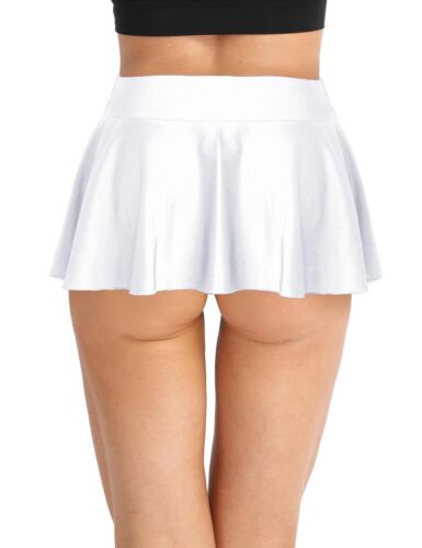 Femmes Court Mini Skorts Sport Courir Rock Jupe tennisrock avec intérieur Shorts