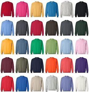 Gildan-18000-Heavy-Blend-Adult-Crewneck-Sweatshirt-Pullover-Jumper-Fleece-S-5XL