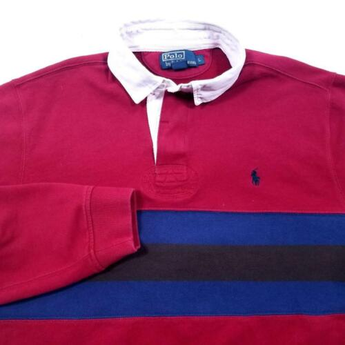 Mens POLO by RALPH LAUREN 80's Rugby Shirt - L - … - image 1