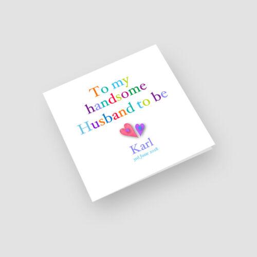 Personalised Handmade Wedding Day Card Boyfriend Husband To Be Fiance