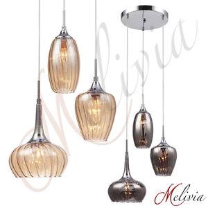h ngeleuchte bernstein schwarz grau glas h ngelampe pendelleuchte deckenlampe ebay. Black Bedroom Furniture Sets. Home Design Ideas