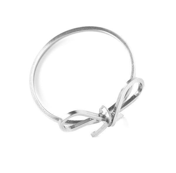 By Boe Bow Schleife Schleifchen Ring Gr. 57 silver versilgreen