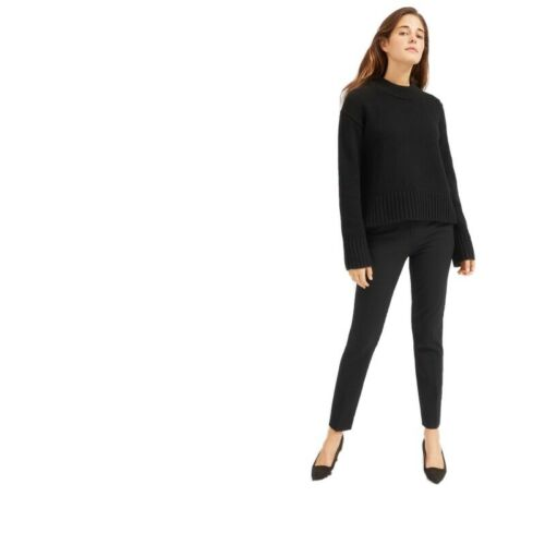 Everlane The Slim Wool Pant Black Pants 2 Cigarett