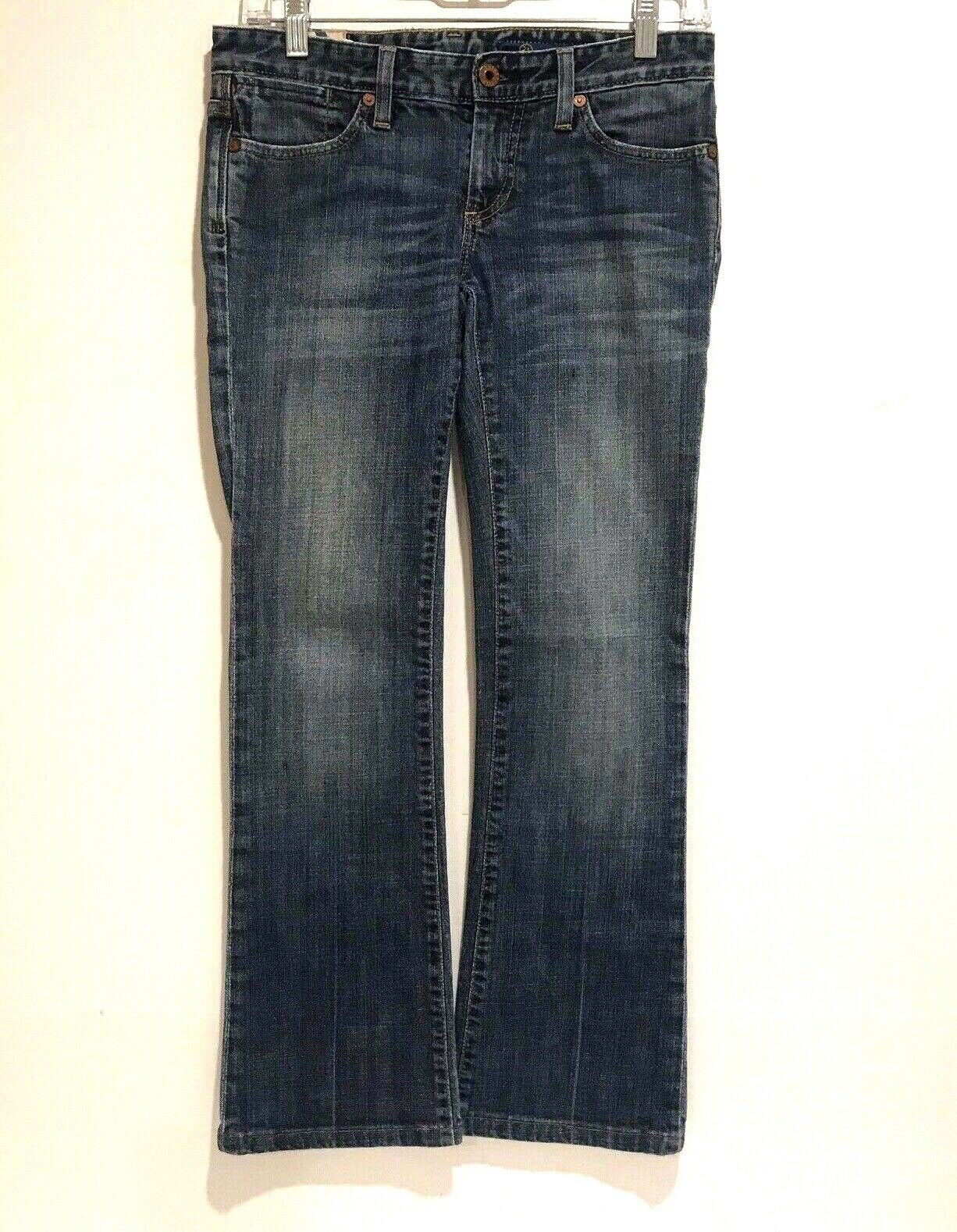 AG Adriano goldschmied Women's Boot Cut Distressed Jeans bluee Denim 25R Stretch