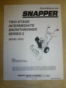 Snapper Series 3 Manual