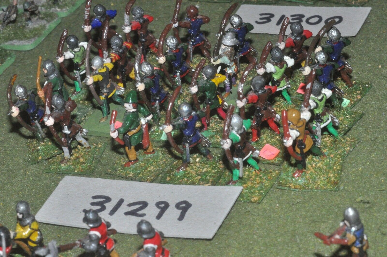 25mm medieval     english - archers 24 figures - inf (31299) 0a13d0