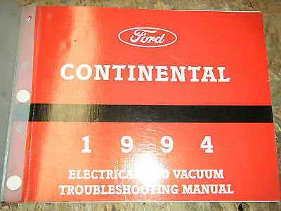 1994 LINCOLN CONTINENTAL FACTORY ELECTRICAL WIRING ...