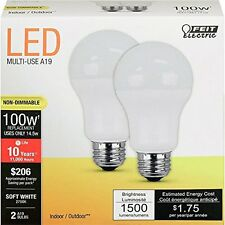 Feit Electric A1600/827/10KLED/2 100W Equivalent Non-Dimmable LED Light Bulb