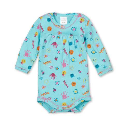 SCHIESSER Baby Body Langarm SMILEY Gr 56 62 68 74 80 86 92 98 104 Bodies NEU